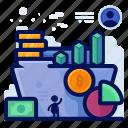 chart, file, folder, information, statistics