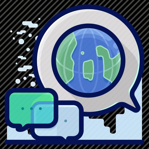 chat, communication, conversation, international, overseas icon