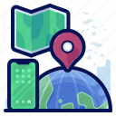 communication, location, map, phone, smartphone