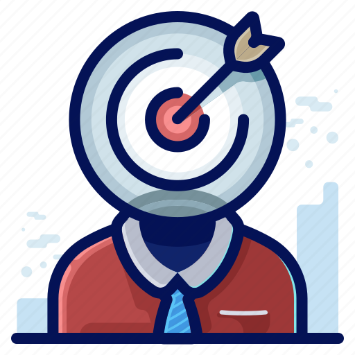 audience, business, marketing, target icon