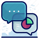 business, chart, communication, conversation, message icon