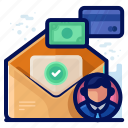 business, email, employee, mail, message icon