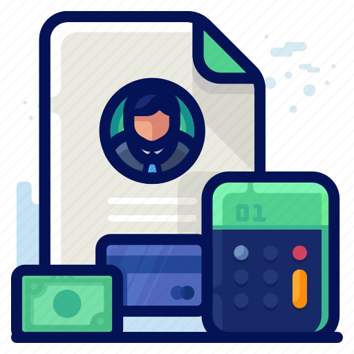 business, employee, finance, money, salary icon