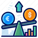 exchange, finance, money, scale, weigh icon