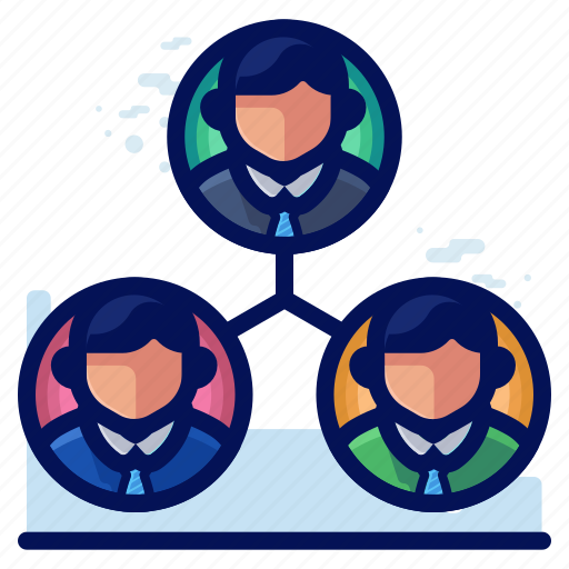 business, employee, group, management, team icon