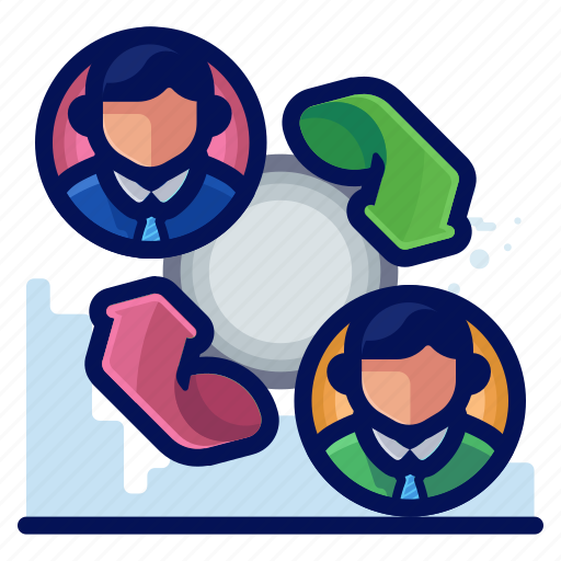 business, conversation, meeting, transfer icon