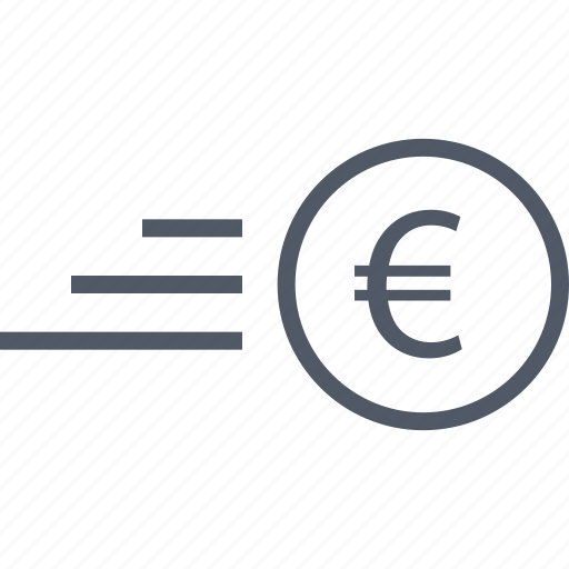 business, euro, fast, money, seo icon