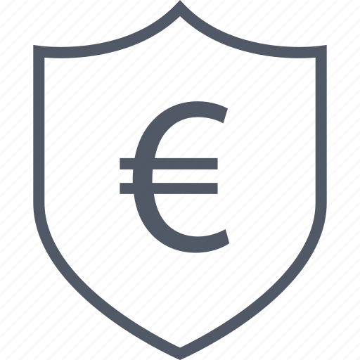 business, euro, protect, seo, shield icon