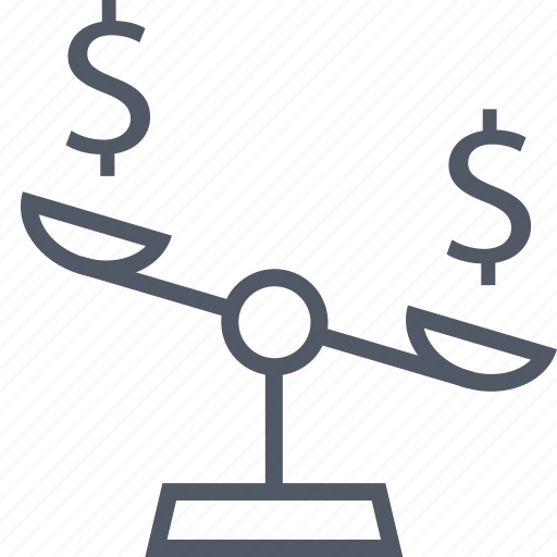 business, dollar, scale, seo, signs, two icon
