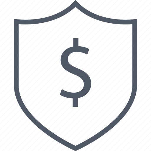 business, dollar, money, seo, shield, sign icon