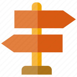 direction, road sign, sign, signage icon