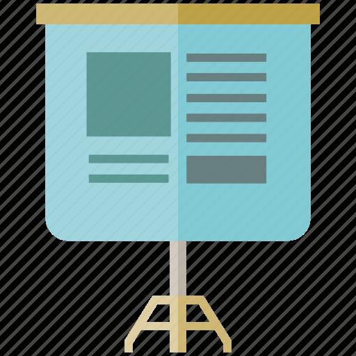 presentation, projector screen, seminar icon