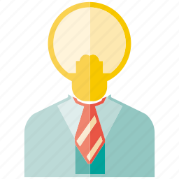 bulb, creative, idea, light, man icon