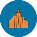 bank, building, estate, finance, home, office, real icon