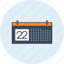 calender, day, desk, event, office, schedule, work icon