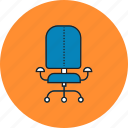 chair, desk, financial, furniture, households, interior, office icon
