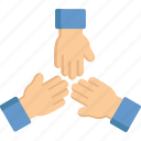 arms, gestures, hands and gentures, networking, teamwork icon