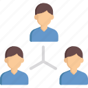 networking, people, team, user, working icon