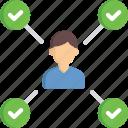 organization, people, tasks, user, worker icon