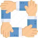 arms, gestures, networking, people, teamwork icon