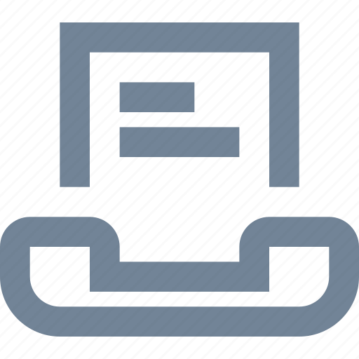 business, communication, fax, file, message, office, telephone icon