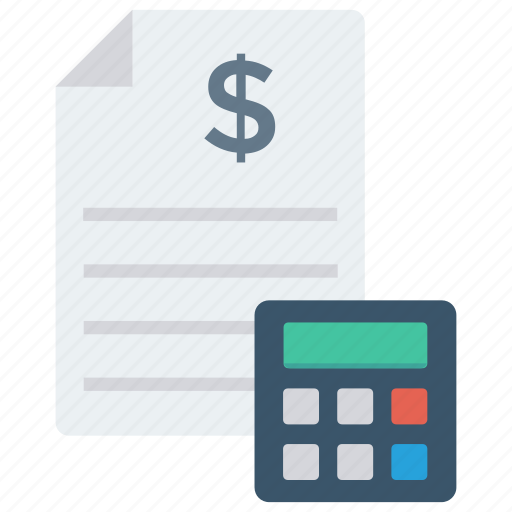 accounting, bill, calculation, invoice, sheet icon