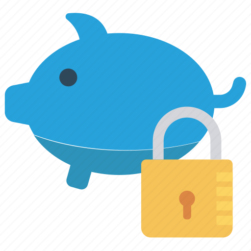 bank, lock, piggy, protect, secure icon