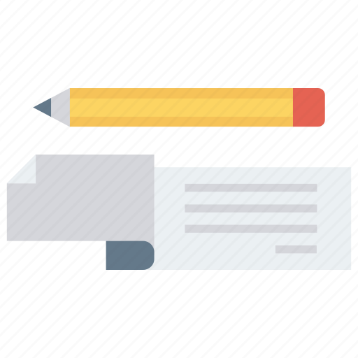 cheque, money, payment, pen, sign icon