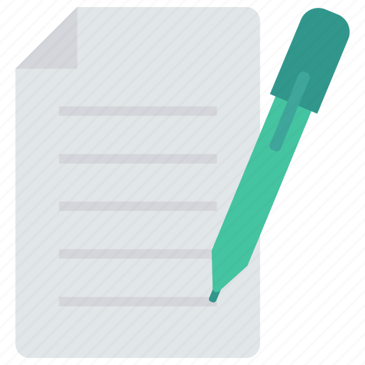 contract, create, document, edit, sign icon