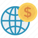browser, coin, dollar, finance, world
