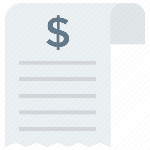 bill, document, invoice, receipt, sheet icon