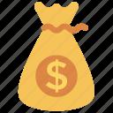 bag, dollar, finance, money, saving icon