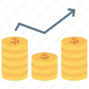 dollar, earning, finance, growth, profit icon