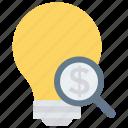 creativity, glass, idea, magnifier, search icon