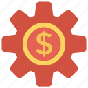 configure, dollar, money, option, setting icon