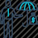 business, finance, insurance, protection, umbrella icon