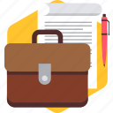 bag, baggage, business, contract, profile, sheet, tour icon