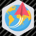 global, international, post, send, world, worldwide icon
