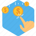 click, funds, invest, investment, mutual, ppc, touch icon