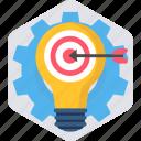 aim, ambition, bullseye, goal, objective, target icon