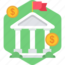bank, finance, financial, institute, institution, treasure, treasury icon