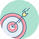 achievement, aim, dart, focus, goal, success, target icon