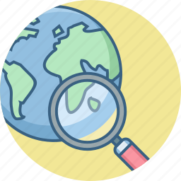 country, find, location, magnifier, map, search, world icon