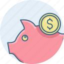 cash, finance, funds, guardar, money, save, saving, savings icon