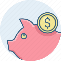 cash, finance, funds, guardar, money, save, saving, savings icon