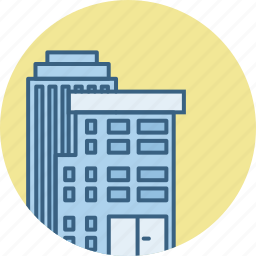 architecture, building, city, estate, office, property, real icon