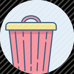 bin, cancel, close, delete, exit, garbage, trash icon