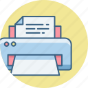 data, page, paper, print, printer, printing, sheet icon
