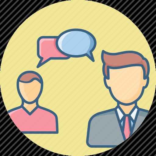 conversation, discuss, discussion, talk, talking icon