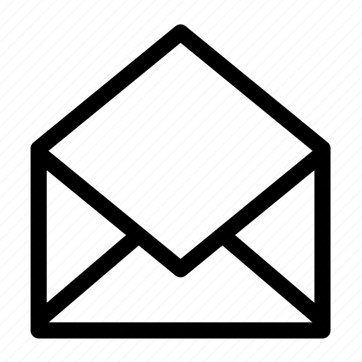 email, envelop, mail, message, open icon
